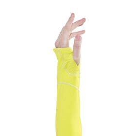 Salomon Trail Runner Warm Mid Hardloopshirt lange mouwen Dames geel